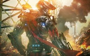futuristic, cyborg, armor, soldier, war, Halo