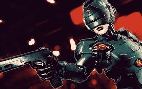 artwork, genderswap, cyborg, RoboCop