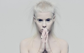 white hair, black eyes, white, girl, Die Antwoord, Yolandi Visser