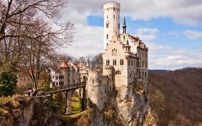 landscape, fortress, medieval, mountain, Neuschwanstein Castle, castle