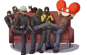 Daft Punk, electronic music, music, deadmau5