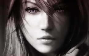Claire Farron, eyes, Final Fantasy XIII, face