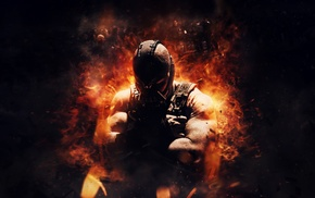 fire, Bane, comics, Batman, digital art, DC Comics