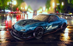 Mazda RX, 7, Need for Speed, tuning, car