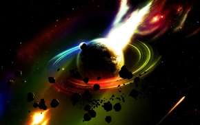 space art, planet, colorful, space, digital art