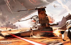 X, wing, spaceship, Star Wars Battlefront, stormtrooper, video games