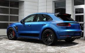 blue cars, Porsche Macan, blue, Porsche, car
