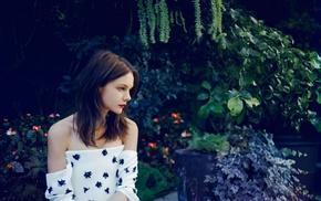 girl, strapless dress, dress, actress, brunette, Carey Mulligan