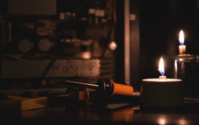 candles, soldering