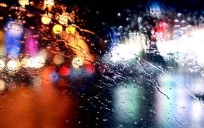 rain, water on glass
