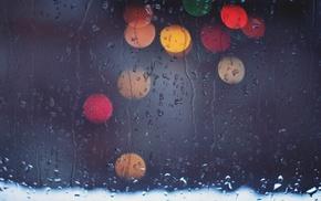 water on glass, rain