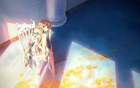 anime, chair, blue eyes, original characters, Yuuki Tatsuya, anime girls
