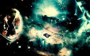 space art, space, astronaut, planet