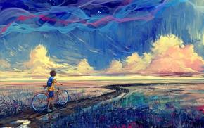 fantasy art, artwork, bicycle