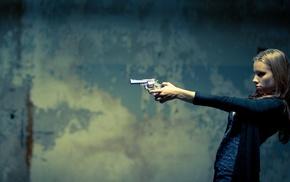 girl, gun, weapon
