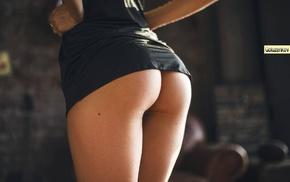 small panties, girl, long hair, ass, lingerie, the gap