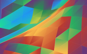 KDE, digital art, geometry, colorful, abstract, triangle