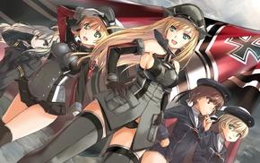 anime girls, Nazi, anime, Prinz Eugen KanColle, U, 511 KanColle