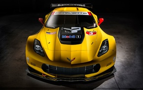 vehicle, 2014 Chevrolet Corvette C7R, Chevrolet Corvette C7R, yellow cars, car