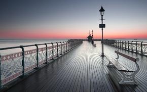 sea, landscape, England, Cardiff