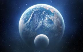 planet, digital art, space art, Earth