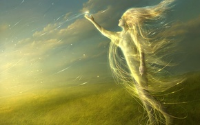 fantasy art, wind, artwork