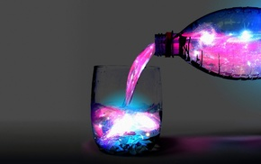glass, magic, water, colorful