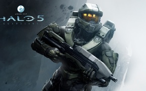 Spartans, Master Chief, Halo 5, machine gun
