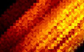walls, digital art, orange