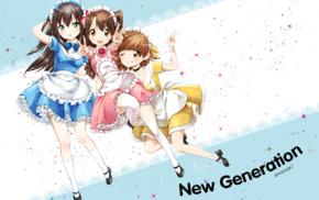 maid outfit, THE iDOLMSTER Cinderella Girls, anime girls, Honda Mio, long hair, Shibuya Rin