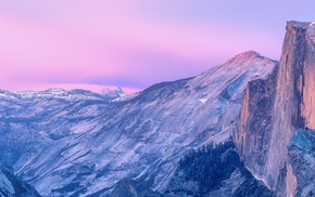 valley, landscape, California, mountain, Half Dome, cliff