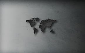 Asia, minimalism, Australia, Europe, Africa, scratches