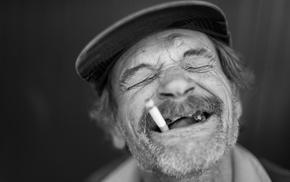 old people, smoking, men, laughing