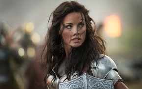 Thor 2 The Dark World, Lady Sif, armor, girl, shields, Jaimie Alexander