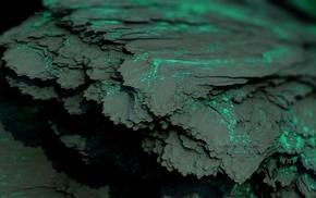 Procedural Minerals, digital art, green, mineral, artwork, CGI