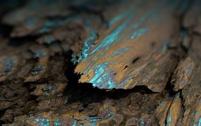 Procedural Minerals, mineral, digital art, brown, abstract, depth of field