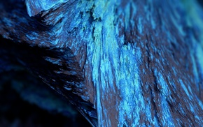 blue, render, abstract, depth of field, mineral, Procedural Minerals