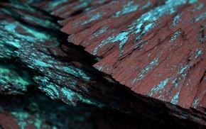 digital art, Procedural Minerals, artwork, abstract, CGI, turquoise