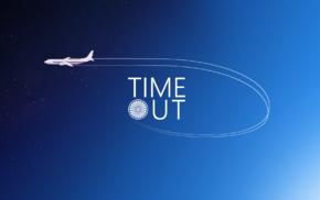 airplane, 2D, sky, digital art, stars
