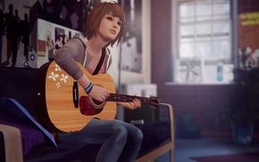 singing, Life Is Strange, guitar, video games, room
