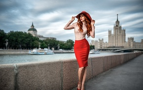 Georgiy Chernyadyev, redhead, girl outdoors