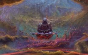 Sith, digital art, lightsaber, nebula, fantasy art, artwork