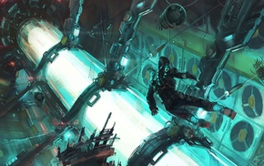Dead Space, video games, digital art, artwork, Isaac Clarke