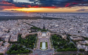 architecture, metropolis, landscape, park, cityscape, Paris