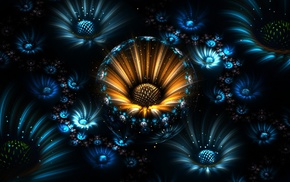 fractal flowers, abstract, fractal