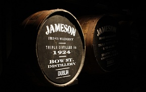 whiskey, barrels, wood, cellars, Dublin, Jameson