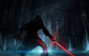 Star Wars, lightsaber, Kylo Ren, Sith, Star Wars Episode VII, The Force Awakens
