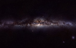 galaxy, multiple display, stars, space, Milky Way
