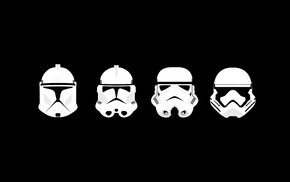 minimalism, clone trooper, Star Wars, stormtrooper, helmet