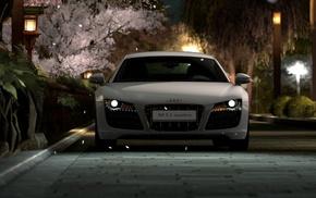 car, multiple display, Audi R8, video games, Gran Turismo 5